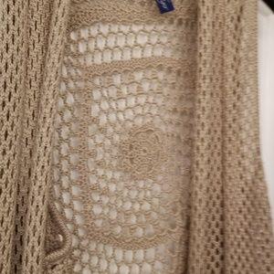Crocheted vest open front